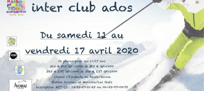 Séjour ski ados avril 2020