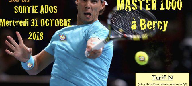 Sortie tennis Paris Master 1000 à Bercy
