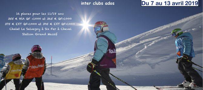 Séjour ski inter club ados 2019