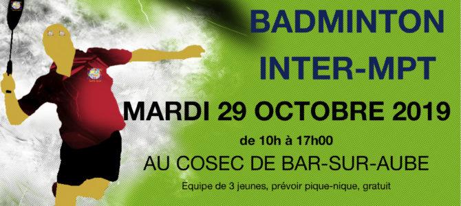 Tournoi de badminton inter MPT
